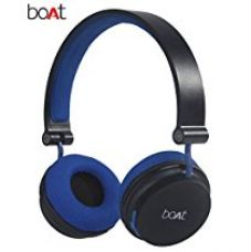 Buy Boat Super Bass Rockerz 400 Bluetooth On-Ear Headphones with Mic (Black/Blue) from Amazon