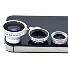 Cellphonez® 3-in-1 Universal Camera Lens Kit for Smartphones - Fish Eye Lens / 2 in 1 Macro Lens & Wide Angle Lens for Rs. 249
