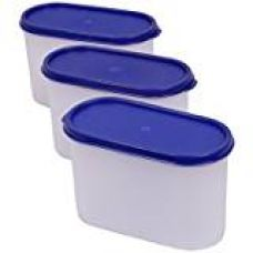 Buy Tupperware Modular Mates Oval Plastic Container Set, 1.7 Litres, 4-Pieces, Asssorted from Amazon