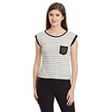 Buy Unshackled Women's Striped T-Shirt from Amazon