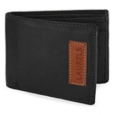 Buy Laurels Fury Black Men's Wallet (FUR-01) from Amazon