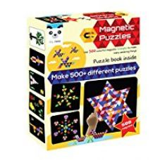 Buy Play Panda Magnetic Puzzles : Triangles - Includes 400 magnets, 200 puzzles, magnetic board, display stand from Amazon