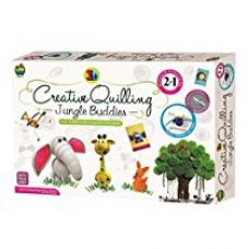 Buy Applefun 2 in 1 Creative Jungle Buddies Quilling, Multi Color from Amazon