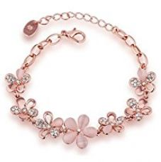 Buy Shining Diva Fashion Jewellery Rose Gold Crystal Charm Bracelet Gifts for Girls and Women from Amazon