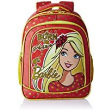 Buy Barbie Polyester 14 Inch Red and Yellow Children's Backpack (Age group :3-5 yrs) from Amazon