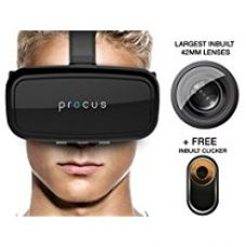 Procus ONE Virtual Reality Headset - 42MM Lenses- Fully Adjustable VR Glasses ,Black for Rs. 1,799