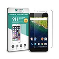 Nexus 6P Tempered Glass Screen Guard Protector Ultra Strong (9H)-Slim by Skin4Gadgets with Gift Card of Rs.200 for Rs. 499