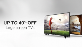 upto 40% off on TVs
