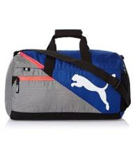 Buy Puma Blue and Grey Travel DuffleBag from SnapDeal