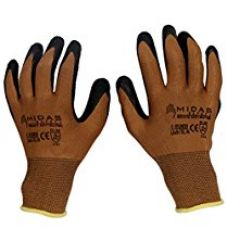 Buy TheCoolio Midas Safety Brown Shell with Black Crinkle Finish Latex Coating Gloves (Medium Size) from Amazon