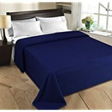 Christy's Collection 2 Piece Polar Fleece Double AC Blanket Set - Blue for Rs. 517