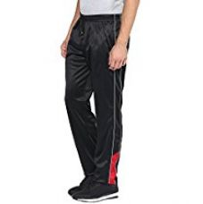 Buy American Crew Men's Polyester Black Trackpant -L (AL089-L) from Amazon