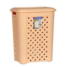 Cello Classic Plastic Laundry Basket, 30 Litres, Beige for Rs. 640