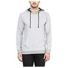 Buy American Crew Men's Full Sleeves Grey Melange Hoodie - L (AC1202-L) from Amazon