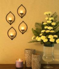 Get 35% off on Hosley set of 4 wall sconce with frosted glass