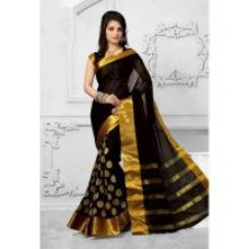Buy Bhuwal Fashion Multicolor Cotton Silk Embroidered Saree With Blouse ( Colours Available) from ShopClues