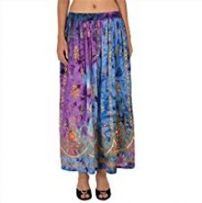 Buy Skirts & Scarves Women's Rayon Hand Beaded Sequin Tie Dye Long Skirt (Multi) from Amazon