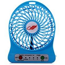 Powerpak 4-Inch Rechargeable Battery USB Mini Fan (Color May Vary) for Rs. 265