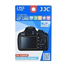 Buy JJC LCP-1200D Ultra hrad polycarbonate LCD Film Screen Protector For Canon EOS REBEL T5 1200D X70 2PK from Amazon