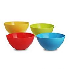 Buy All Time Plastics Mixing Bowl Set, 3.75 Litre, Set of 4, Multicolour from Amazon