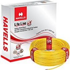 Havells Lifeline Cable WHFFDNYA12X5 2.5 sq mm Wire (Yellow) for Rs. 2,441