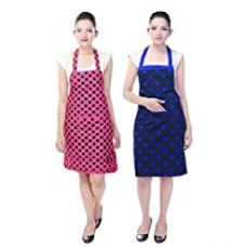 Branded Waterproof Cotton Kitchen Apron pack of 2 for Rs. 535