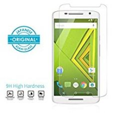 Buy Moto X play Mivi Military Grade Anti-Scratch Tempered Glass Screen Guard (0.3mm, Clear) from Amazon