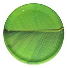 Buy Hua You 12 inch Banana Leaf South Indian Round Dinner Lunch Serving Melamine Platter Plate For All Occasions from Amazon