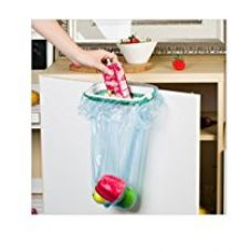 Mosquick Plastic Garbage Bag Holder ,Dustbin With Side Clips For Better Grip, For Kitchen ,Office ,Clincs ,Schools-Green for Rs. 210