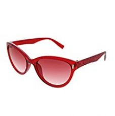 Buy Vast UV Protection Cat Eye Womens Sunglasses (3075RED|56|Grey Lens ) from Amazon
