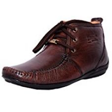 Buy Zoom Men's Pure Leather Formal Shoes D-3181-Brown-6 from Amazon