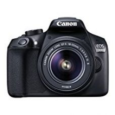 Canon EOS 1300D 18MP Digital SLR Camera (Black) with 18-55mm ISII Lens, 16GB Card and Carry Case for Rs. 22,990