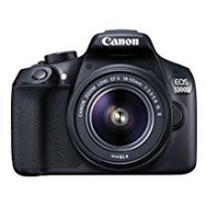 Canon EOS 1300D 18MP Digital SLR Camera (Black) with 18-55 and 55-250mm IS II Lens, 16GB Card and Carry Case for Rs. 34,400