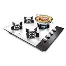 Buy Prestige Hob Glass Top 4 Burner Auto Ignition Gas Stove, Black/White from Amazon