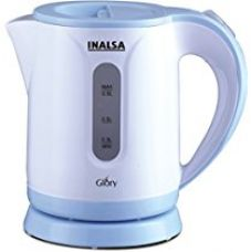 Buy Inalsa Glory PCE 0.9-Litre Cordless Electric Kettle (White/Blue) from Amazon