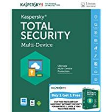 Combo Pack- Kaspersky Total Security Latest Version- 1 User, 1 Year (CD) + Kaspersky Internet Security for Android (Voucher) for Rs. 1,023