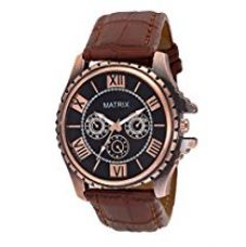 Matrix Analog Black Dial Men's Watch-WCH-126 for Rs. 399