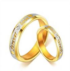 Buy Yellow Chimes Love Forever 18K Gold Plated Proposal Couple Rings for Girls and Boys. Perfect for Couple! from Amazon