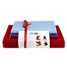 Buy Newnik Reusable Absorbent Sheets/Underpads / Dry Sheet Combo (1 Large, 2 Small) Cherryred Plum Firoza from Amazon