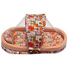 Amardeep and Co Mattress with Mosquito Net and Bumper Guard Animal (Orange) - MT-06-animal-print for Rs. 1,796