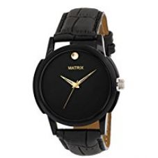 Matrix Analog Black Dial Men's Watch-WCH-131 for Rs. 349