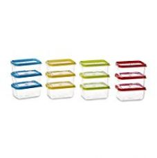 All Time Plastics Polka Container Set, 125ml, Set of 12, Multicolour for Rs. 240