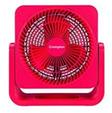 Buy Crompton Bubbly 200mm Personal Fan (Cherry Red) from Amazon