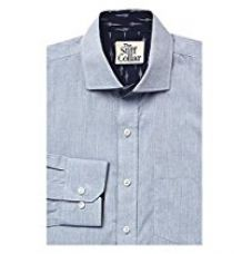 Buy The Stiff Collar Art Collection Regular Fit (40, blue ikkat with collar) from Amazon