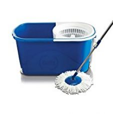 Buy Gala Spin mop with easy wheels and bucket for magic 360 degree cleaning (with 2 refills) from Amazon