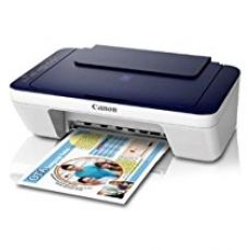 Buy Canon Pixma E477 All-in-One Wi-Fi InkJet Printer (White/Blue) from Amazon