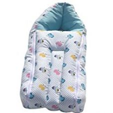 Amardeep and Co Baby Sleeping Bag Cum Baby Carry Bag (Blue) - sb01-blue-apple for Rs. 340