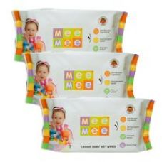 Mee Mee Caring Baby Wet Wipes with Aloe Vera (72 pcs) (Pack of 3) for Rs. 261