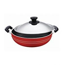 Buy Pigeon Induction Base Non-Stick Kadai-200 IB with Lid/Dia 200mm from Amazon
