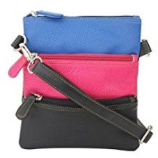 K London Small Sling Bag for Women & Girls (Black,Blue & Pink) (1301_blue_pink) for Rs. 469